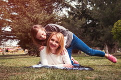 Mother with daughter having fun Stock Photo