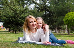 Mother with daughter having fun Royalty Free Stock Images