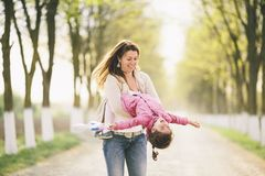 Mother and daughter having fun Royalty Free Stock Photography