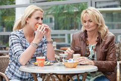 Mother and daughter having lunch Stock Image