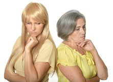 Mother and daughter having problem Stock Image