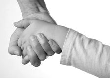 Mother and Daughter Holding Hands Stock Images