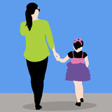 Mother Daughter Holding Hands Stock Photography