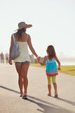 Mother daughter holding hands Royalty Free Stock Photos