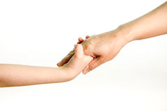 Mother and daughter holding hands Royalty Free Stock Image