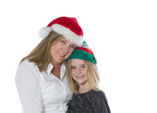 Mother and daughter in the holiday mood Royalty Free Stock Photo