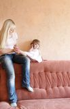 Mother and daughter at home Royalty Free Stock Photography