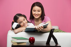 Mother and daughter at home. Royalty Free Stock Photos