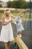 Mother with daughter playground Royalty Free Stock Images