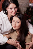 Mother and daughter hugging Royalty Free Stock Image