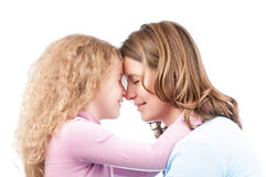 Mother and daughter hugging. Royalty Free Stock Photos