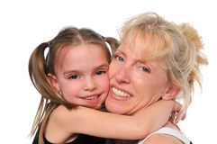 Mother and daughter Hugging each other Royalty Free Stock Images
