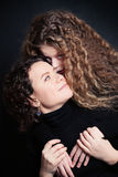 Mother and Daughter Hugging. Happy Family Royalty Free Stock Photos
