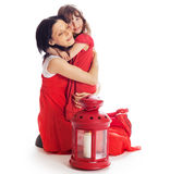 Mother and daughter hugging Royalty Free Stock Photography