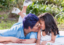 Mother and daughter. Interaction royalty free stock photo