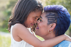 Mother and daughter. Interaction love royalty free stock photography
