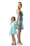 Mother with daughter isolated Stock Images