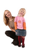 Mother with daughter isolated 4 Royalty Free Stock Photo