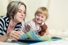 Mother and daughter in a joint game Royalty Free Stock Photography