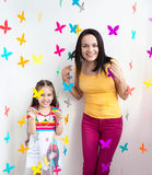 Mother and daughter kid child Stock Image