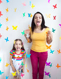 Mother and daughter kid child Royalty Free Stock Image
