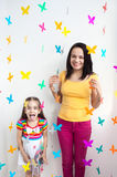 Mother and daughter kid child Royalty Free Stock Images