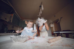 Mother and daughter in the kitchen Royalty Free Stock Image