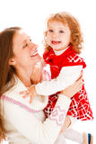 Mother and daughter laughing Royalty Free Stock Photos