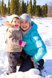 Mother and daughter laughing Royalty Free Stock Photo