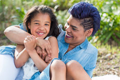 Mother and daughter. Laughing portrait royalty free stock photo