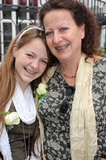 Mother - daughter laughing portrait with braces Stock Photography