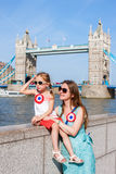 Mother and daughter in London Royalty Free Stock Photo