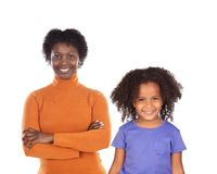 Mother and daughter looking at camera with a beautiful smile royalty free stock photo