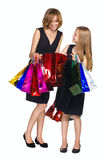 Mother and daughter looking purchase Royalty Free Stock Images