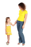 Mother and daughter looking to each other and Royalty Free Stock Image
