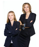 Mother and daughter in  lounge suit Stock Photography