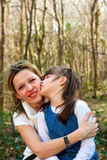 Mother and daughter love. Mother and daughter in a park spending time together for mother's day Stock Photos