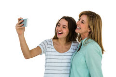 Mother and daughter make a selfie Royalty Free Stock Photo