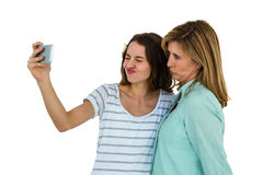 Mother and daughter make a selfie Royalty Free Stock Photography