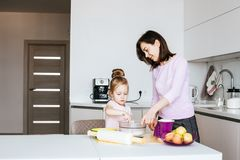 Mother And Daughter Making Cookies royalty free stock photo