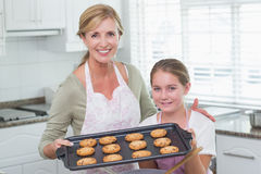 Mother and daughter making cookies together Royalty Free Stock Photo