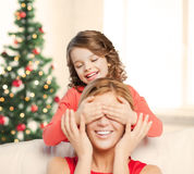 Mother and daughter making a joke Stock Photography