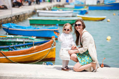 Mother and daughter in Malta Stock Photography