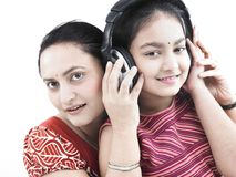 Mother, daughter and music Royalty Free Stock Photo