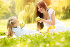 Mother and daughter in the nature Royalty Free Stock Photo