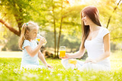 Mother and daughter in the nature Stock Photo