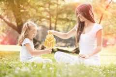 Mother and daughter in the nature Stock Photography