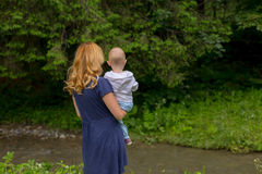 Mother and daughter in nature Royalty Free Stock Photography