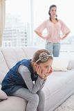 Mother and daughter not talking after argument Royalty Free Stock Photo