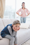 Mother and daughter not talking after argument Royalty Free Stock Images